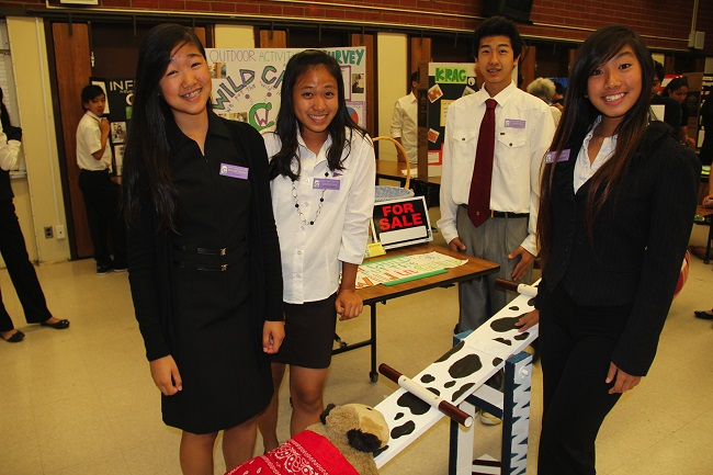 TeeterTodder Team sells their toy at Alvarado Middle School in Rowland Heights.