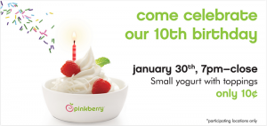 Pinkberry 10th anniversary