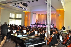 Diamond Bar High musicians perform at Grammy Gala. (Photo by Kelli Gile)