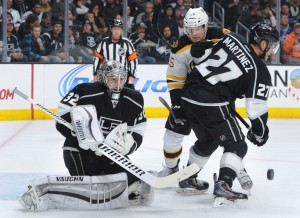Goalie Jonathan Quick has started 12 consecutive games for the Kings.  (Photo by John McCoy Daily News)
