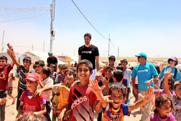 Lakers forward Pau Gasol recently completed a visit to Iraq as a UNIVEF ambassador