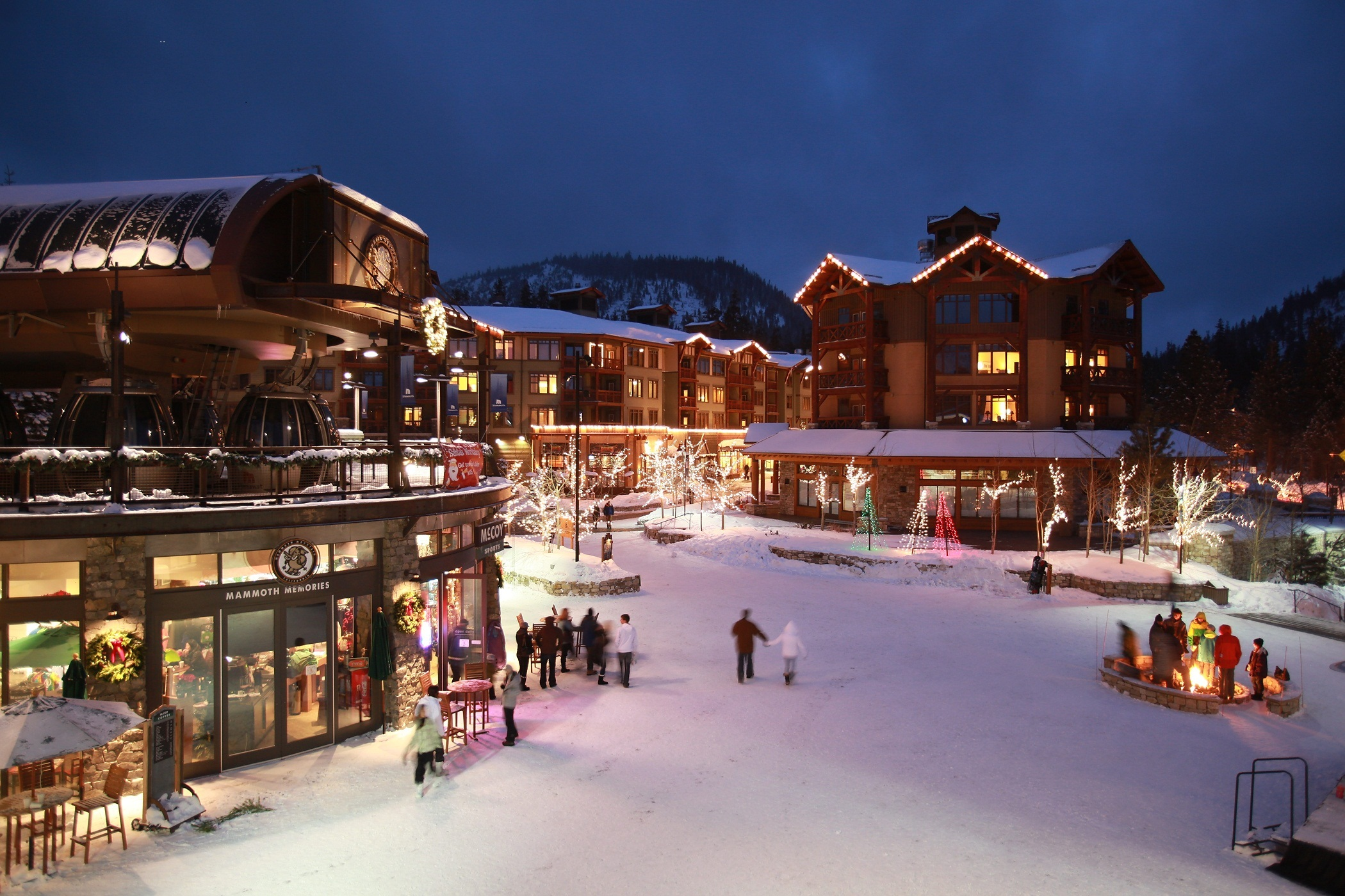 Village at Mammoth offers many amenities for a great family ski vacation. Photo courtesy of Mammoth Mountain