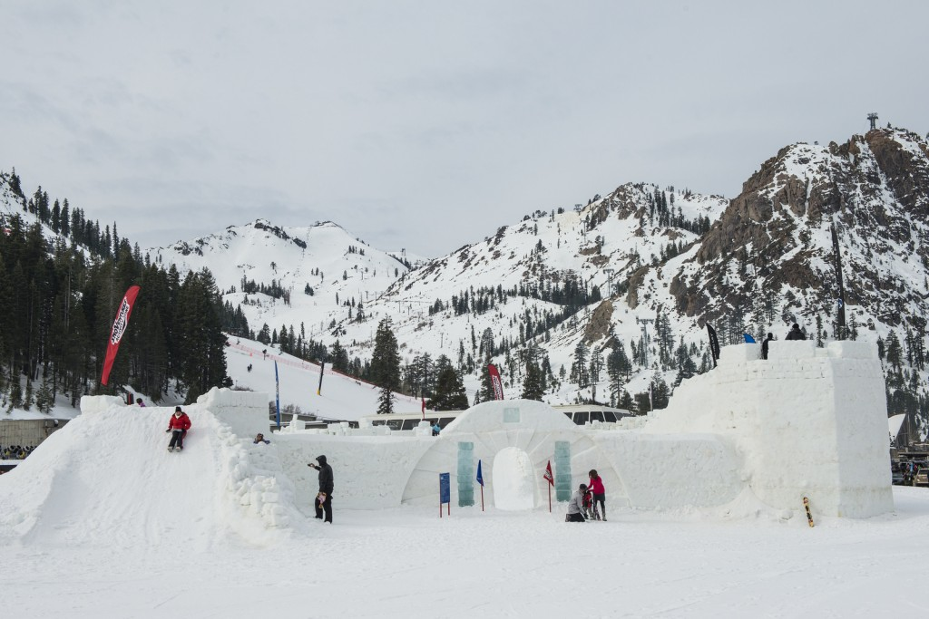 Squaw Valley's Kid-O-Rama Kastle features four towers, three slides and four staircases. (Squaw Valley photo)