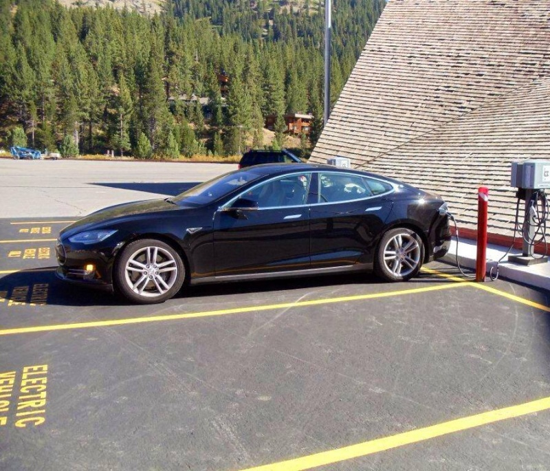 Up to four vehicles at a time may plug into the new electric vehicle charging stations at Squaw Valley. (Squaw Valley photo)