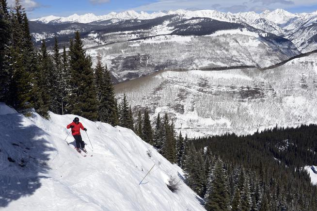 During the past winter, Vail and other Colorado resorts welcomed more skiers and snowboarders than ever, thanks, in part, to disappointing snowfall at resorts in California. (Photo By Andy Cross/The Denver Post)