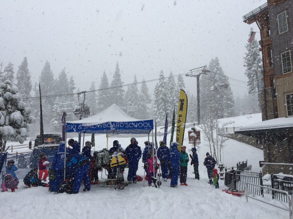 Snow, snow and more snow. Here was the scene at Northstar California Resort today at 9 a.m. (Northstar photo)