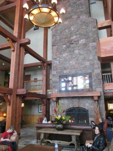 Inside the beautiful lodge at Deer Valley Ski Resort in Park City, Utah. (Photo by Marlene Greer)