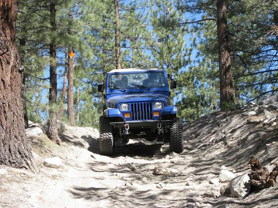 High  Sierra Jeep Adventures splashes through stream outside June Lake near Mammoth. (Photo courtesy of High Sierra)