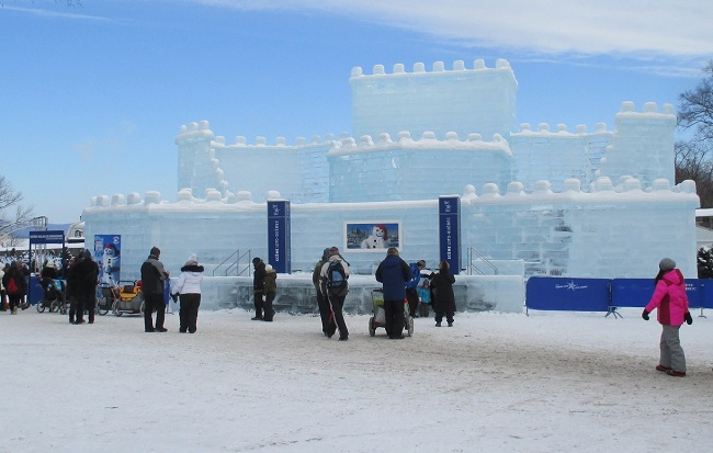 Ice castle at Carnival de Quebec (Photo by Marlene Greer)