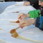 Making maple popsicles (Photo by Marlene Greer)