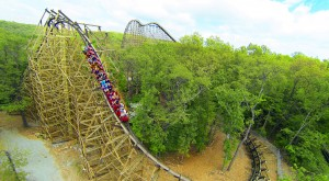 Roller coaster at Silver Dollar City. (Photo courtesy of Silver Dollar City)