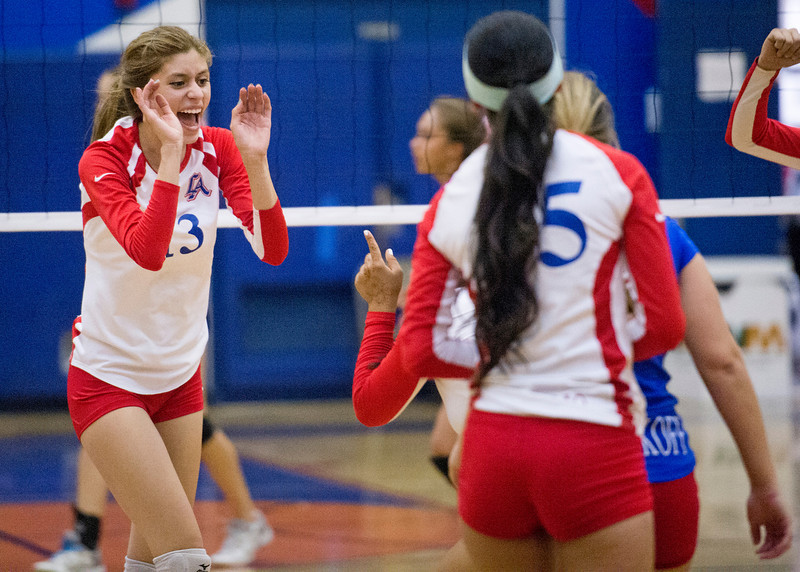 Los Altos High girls volleyball defeats Diamond Bar High 3-1 October 1, 2013.  (Staff photo by Leo Jarzomb/SGV Tribune)