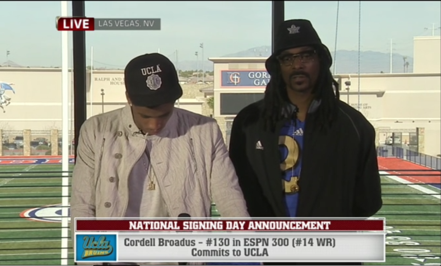 Cordell Broadus' commitment on ESPN was big news for UCLA on Signing Day, but the four-star receiver never showed up to camp.