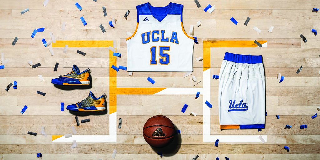 "UCLA's latest ""Made in March"" uniforms are far from the worst alternates adidas has ever released. (UCLA Athletics)"